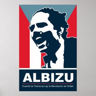 Pedro Albizu Campos - Bandera Póster