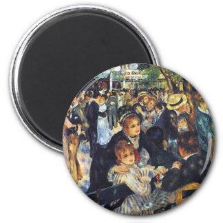 Pedro Auguste Renoir - baile en el la G de Le Moul Imán Para Frigorifico