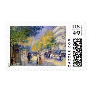Pedro Auguste Renoir - Boulivards de París Sello