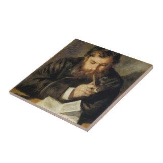 Pedro-Auguste Renoir- Claude Monet (el lector) Tejas Cerámicas