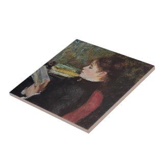 Pedro-Auguste Renoir- el lector Azulejo Cerámica