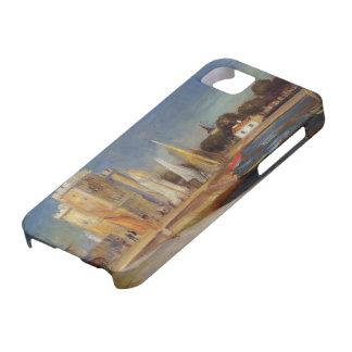 Pedro-Auguste Renoir- el puerto de Rochelle iPhone 5 Case-Mate Funda