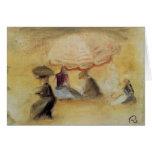 Pedro-Auguste Renoir- en la playa Tarjeta