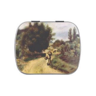 Pedro-Auguste Renoir- en las orillas del río Frascos De Dulces