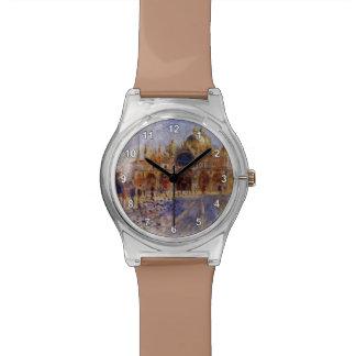 Pedro-Auguste Renoir- la plaza San Marco Reloj