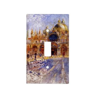 Pedro-Auguste Renoir- la plaza San Marco Placa Para Interruptor