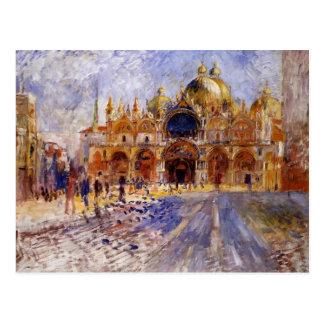 Pedro-Auguste Renoir- la plaza San Marco Postales