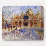 Pedro Auguste Renoir - plaza de San Marco Tapetes De Ratones