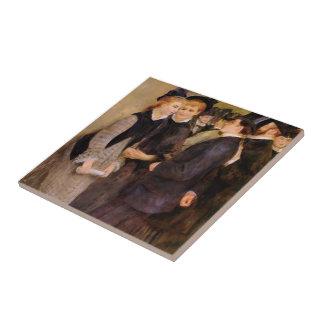 Pedro-Auguste Renoir- que deja el conservatorio Azulejo Cuadrado Pequeño