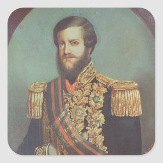 Pedro II  Emperor of Brazil Square Sticker