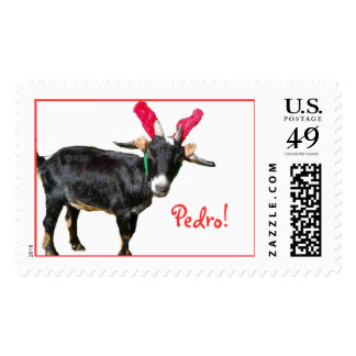 Pedro in antlers, Pedro! Postage
