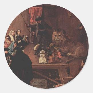 Pedro Longhi- la jaula del león Pegatina Redonda