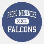 Pedro Menéndez - Falcons - alto - St Augustine Pegatina Redonda
