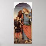 Pedro Perugino - arcángel y pequeño Tobias Posters