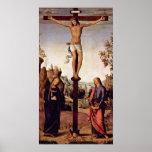 Pedro Perugino - crucifixión con Maria Poster
