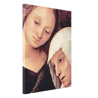 Pedro Perugino - Maria Magdalena y Maria Impresión De Lienzo