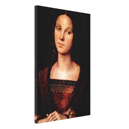 Pedro Perugino - St Mary Magdalena Impresión En Lienzo Estirada
