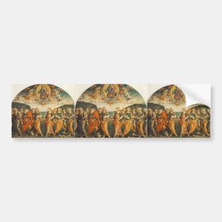 Pedro Perugino Todopoderoso con los profetas y Sy Etiqueta De Parachoque