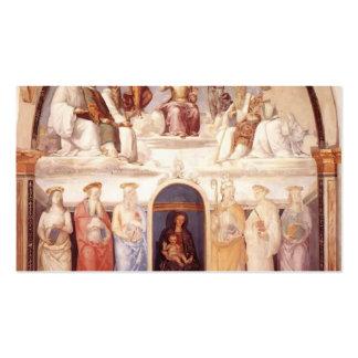 Pedro Perugino: Trinidad y seis santos Plantilla De Tarjeta Personal