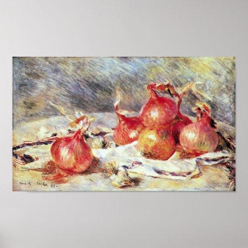 Pedro Renoir - cebollas Póster