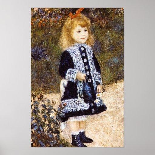 Pedro Renoir - chica con la regadera Posters