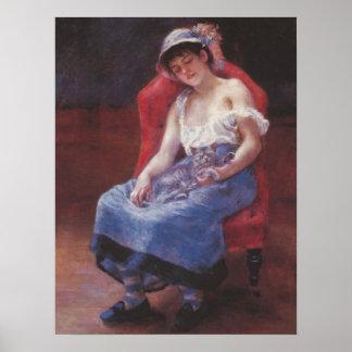 Pedro Renoir - chica dormido Póster