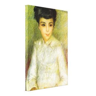 Pedro Renoir - chica joven con el pelo marrón Impresion De Lienzo