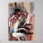 Pedro Renoir - chicas jóvenes en el piano Posters