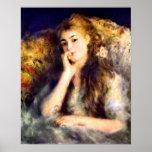 Pedro Renoir - retrato de un chica en pensamientos Posters