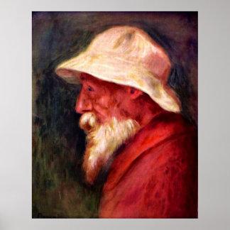 Pedro Renoir - Selfportrait con el gorra blanco Póster