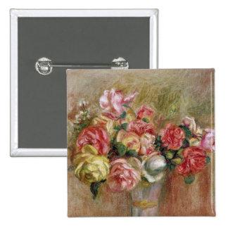 Pedro rosas de Renoir un | en un florero de Sevres Pin Cuadrado