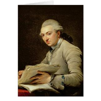 Pedro Rousseau 1774 Tarjeta De Felicitación