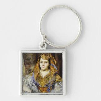 Pedro un Mme. C. Stora de Renoir el | en vestido Llavero Cuadrado Plateado