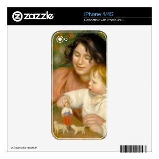 Pedro un niño de Renoir el | con los juguetes Calcomanías Para iPhone 4