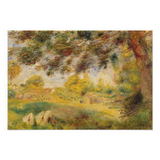 Pedro un paisaje de la primavera de Renoir el | Póster
