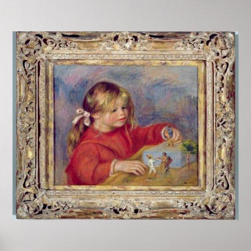 Pedro un Renoir el | Claude Renoir en Play, 1905 Póster