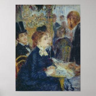 Pedro un Renoir el | en el Caf� Póster