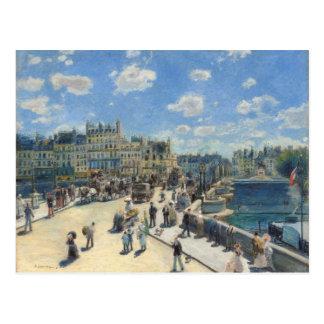 Pedro un Renoir el | Pont Neuf, París, 1872 Tarjeta Postal