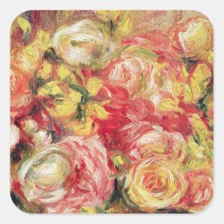 Pedro un Renoir el | Roses, 1915 Pegatina Cuadrada