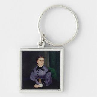 Pedro un retrato de Renoir el | del Mademoiselle Llavero Cuadrado Plateado