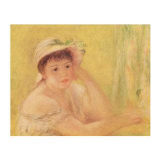 Pedro una mujer de Renoir el | en un gorra de Cuadros De Madera