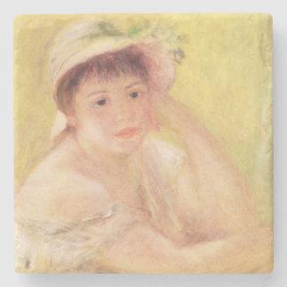 Pedro una mujer de Renoir el | en un gorra de Posavasos De Piedra