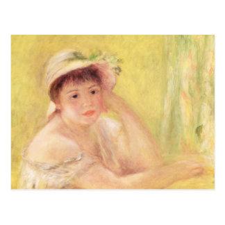 Pedro una mujer de Renoir el | en un gorra de Tarjetas Postales