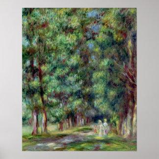 Pedro una trayectoria de Renoir el | en una madera Póster