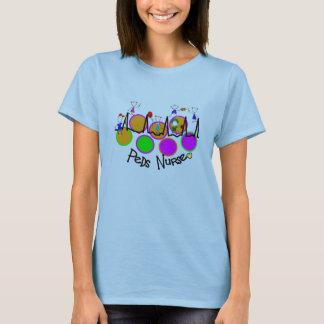 peds nurse 5 kids with QRS design T-Shirt