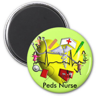 Peds Nurse Gifts-Adorable 3D Graphic ARt 2 Inch Round Magnet