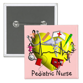 Peds Nurse Gifts-Adorable 3D Graphic ARt Pins