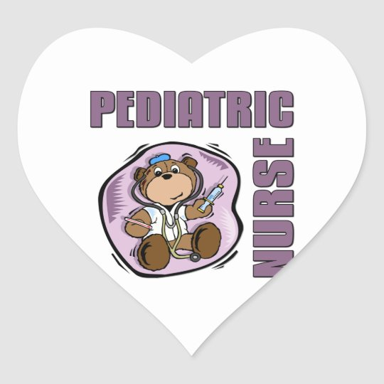 Peds Nurse Heart Sticker