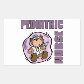 Peds Nurse Rectangular Sticker