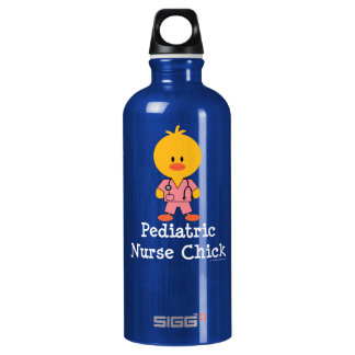 Peds Pediatric Nurse Chick Water Bottle